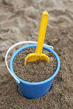 A bucket and a shovel Stock Images
