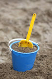 A bucket and a shovel Stock Photo