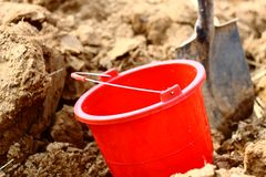 Bucket and  Shovel Royalty Free Stock Photography