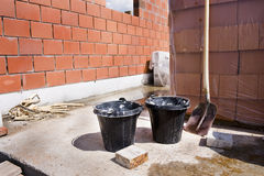 Bucket and shovel Royalty Free Stock Photos