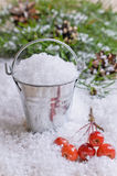Bucket with snow Royalty Free Stock Photo
