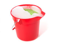 Bucket of Soapy Water Royalty Free Stock Images