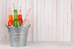 Bucket of Soda with Copy Space Stock Photography