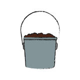 Bucket with soil Royalty Free Stock Photos