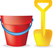 Bucket and spade Royalty Free Stock Photo