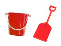 Bucket And Spade Stock Photos
