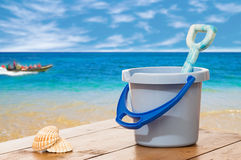 Bucket & Spade Royalty Free Stock Photography