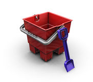 Bucket and spade Royalty Free Stock Photography
