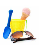 Bucket and spade Royalty Free Stock Photos