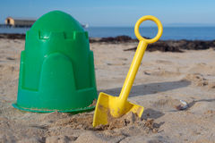 Bucket and spade. Stock Photo