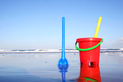 Bucket and Spade Stock Images