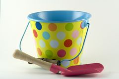 Bucket and Spade. Ready for a trip to the seaside Stock Image