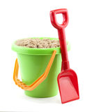 Bucket and spade. Close up on white background royalty free stock images