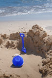 Bucket and Spade on the Beach. Stock Photography