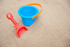 Bucket and spade Royalty Free Stock Images