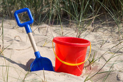 Bucket and the spade Stock Image