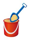 Bucket and spade vector Royalty Free Stock Images