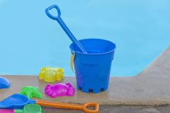 Bucket And Spades Set. Isolated royalty free stock images