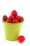 Bucket with strawberries Royalty Free Stock Photos