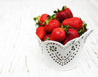 Bucket with strawberries Stock Photography
