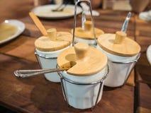 Bucket of Thai-Style seasoning. In the restaurant Stock Image