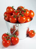 Bucket of Tomatoes stock photos