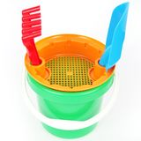 Bucket toy  on white Royalty Free Stock Photography