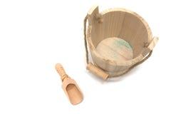 bucket trä Arkivfoton