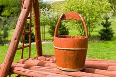 bucket trä Royaltyfria Foton