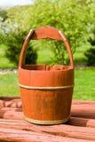bucket trä Fotografering för Bildbyråer