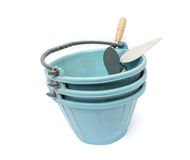 Bucket and a trowel Royalty Free Stock Images