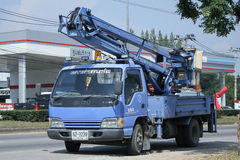Bucket truck of Nongjom Subdistrict Administrative Organization Stock Photography