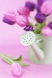 Bucket of Tulips Royalty Free Stock Image