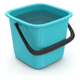 Bucket with water (clipping path included) Stock Images