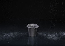 Bucket with water drops Stock Photo