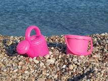 Bucket and watering can Royalty Free Stock Photos