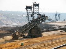 Bucket-wheel excavator. In an open pit Stock Photos