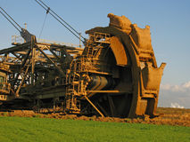 Bucket wheel excavator Royalty Free Stock Photos