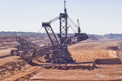 Bucket-wheel excavator Stock Images