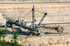 Bucket-wheel excavator digging lignite (brown-coal) Stock Photography