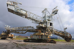 Bucket wheel excavator. An exploration of open pit mine from which coal was mined to supply the thermal power plant. It was operational from 1940 to 2007 Stock Image
