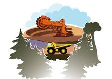 Bucket wheel excavator in a quarry Stock Images