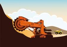 Bucket wheel excavator in a quarry Stock Image