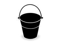 Bucket. On a white background Stock Photos