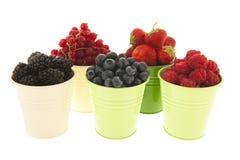 Buckets мягкий плодоовощ изолированный над белизной Стоковая Фотография
