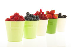 Buckets мягкий плодоовощ изолированный над белизной Стоковые Фотографии RF