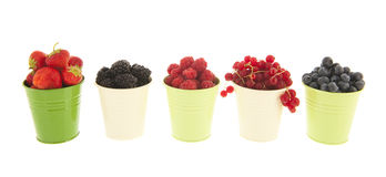Buckets мягкий плодоовощ изолированный над белизной Стоковая Фотография RF