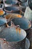 buckets старая Стоковое Изображение