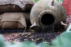 buckets уголь стоковое фото rf
