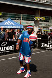 Buckets Blake of the Harlem Globetrotters. Entertains fans at the NBA Jam Session on Aug 27, 2011 at Yonge-Dundas Square in Toronto, Ontario, Canada Stock Images
